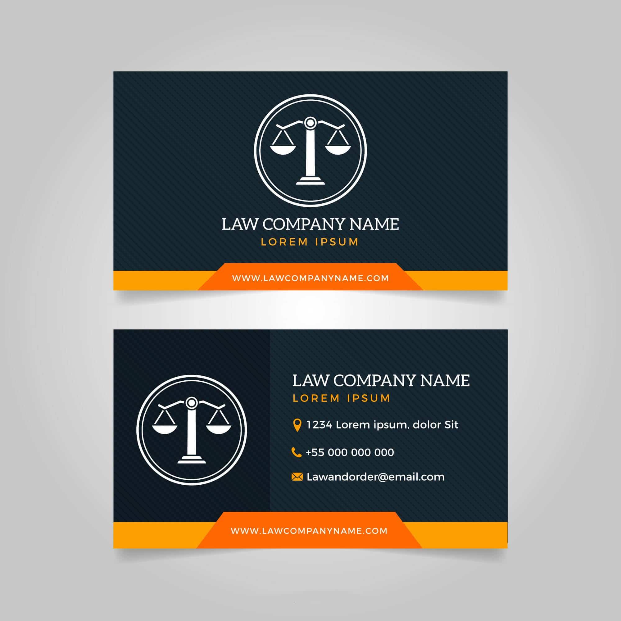 Làm thế nào đê có name card sang trọng trong ngành luật?