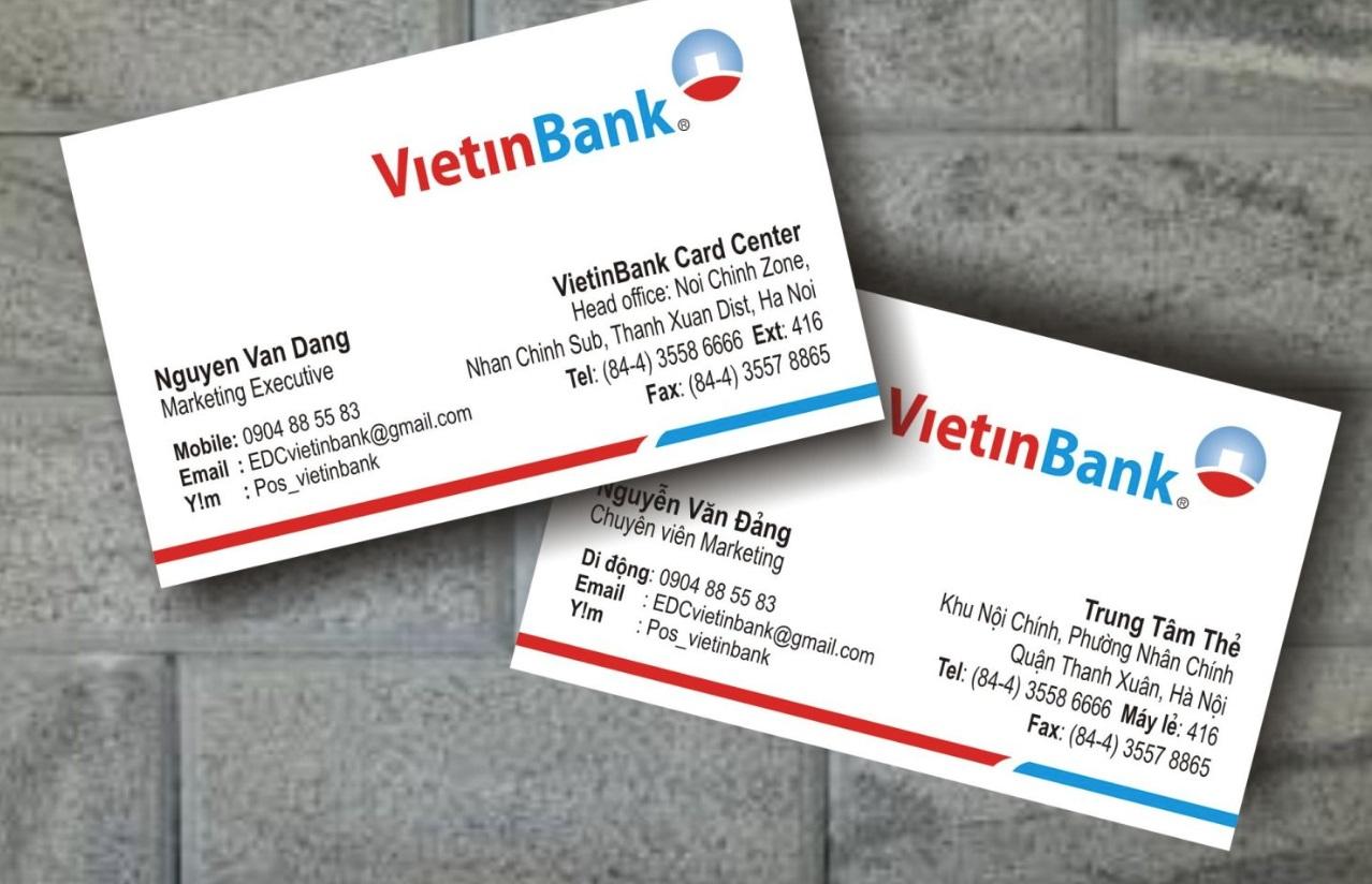 7 bước để có tấm name card ngân hàng chuẩn