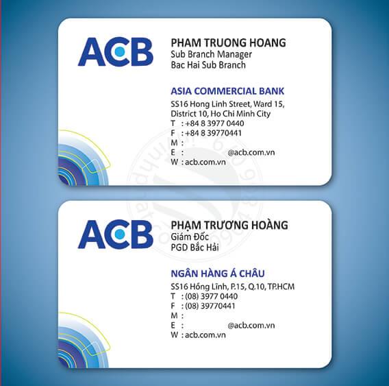 7 bược để có tấm name card ngân hàng chuẩn