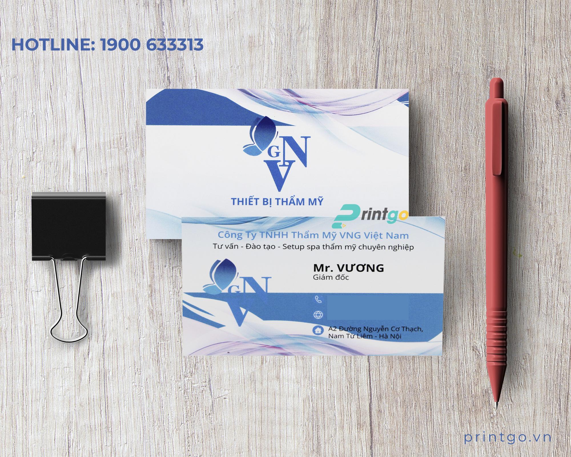 Khách hàng làm về dịch vụ thẩm mỹ chọn Printgo để làm card visit
