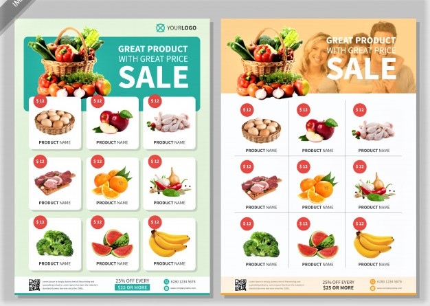 10+ mẫu thiết kế tờ rơi siêu thị đẹp, độc đáo trên thị trường siêu thị hiện nay