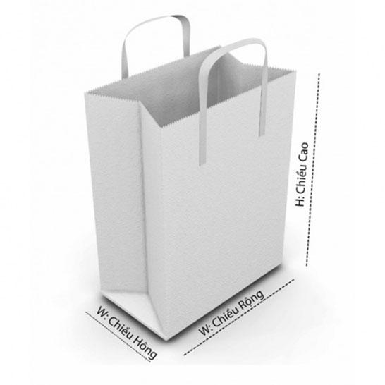 In túi giấy và kích thước túi giấy phổ biến hiện nay