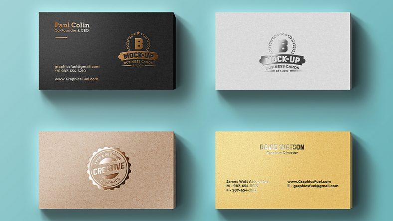 Khuyến mại name card ép kim