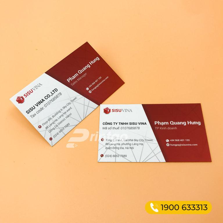Những chất liệu và quy cách gia công cơ bản cho namecard