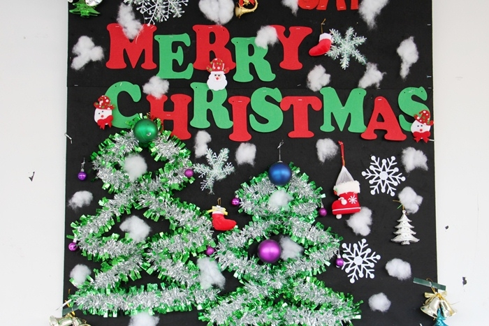 Tuyển tập những ý tưởng trang trí bảng cho lớp học mùa giáng sinh năm 2019
