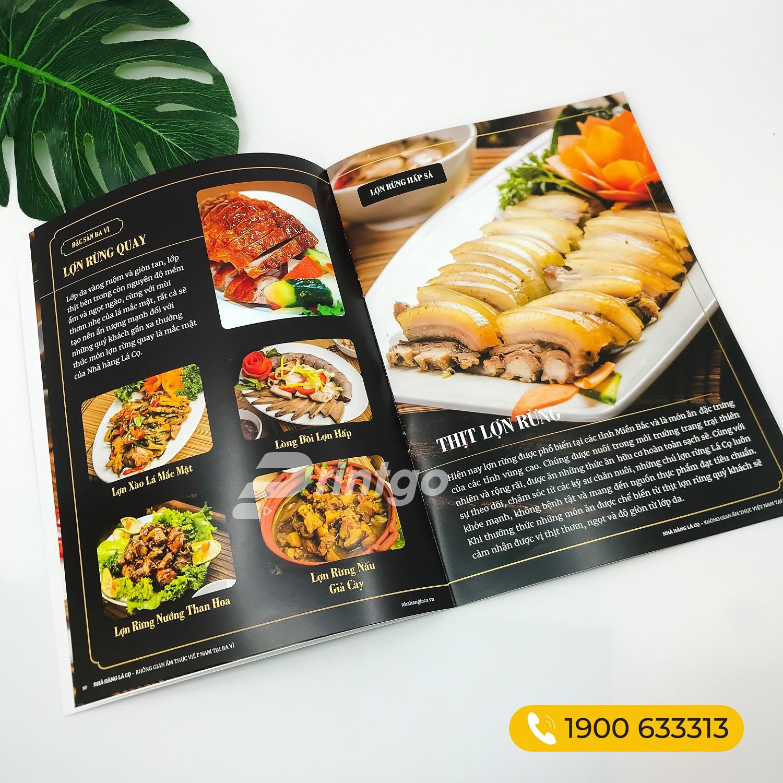 Mẫu catalogue ngành thực phẩm đẹp