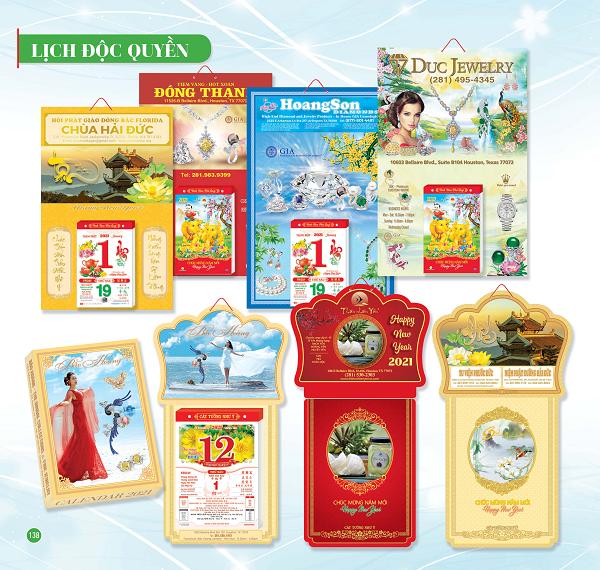 Tổng hợp các mẫu lịch độc quyền 2021 ấn tượng