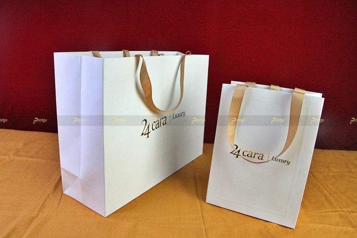Printgo x 24 Cara: Thiết kế và in ấn túi giấy cho ngành thời trang cao cấp