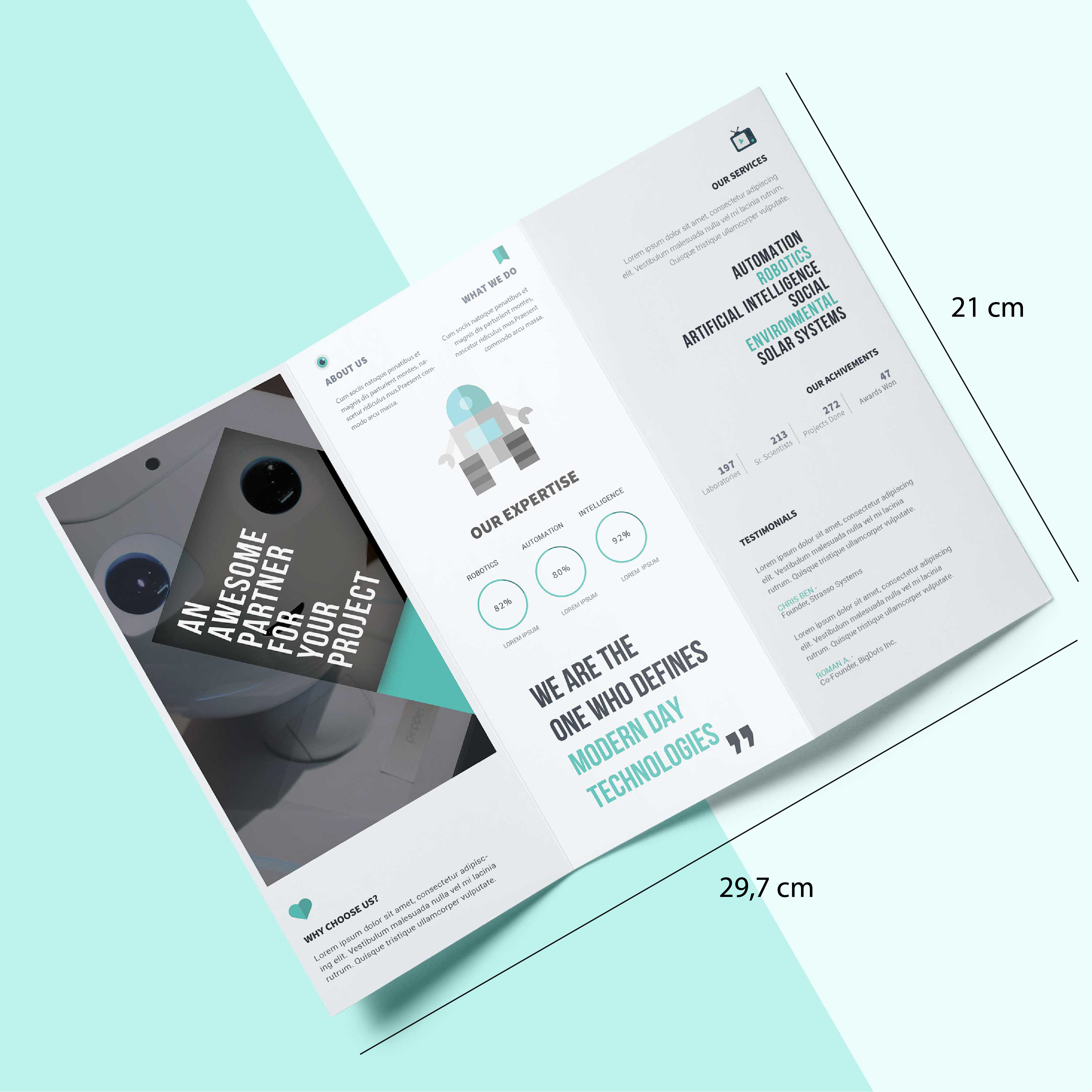 Kích thước tờ gấp /  brochure