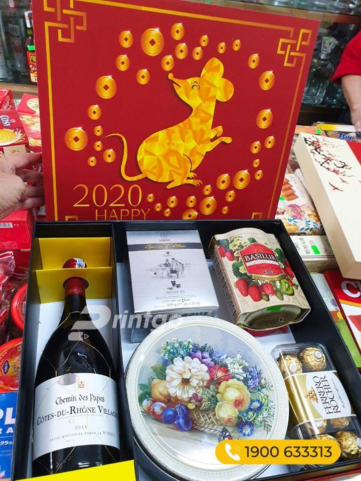 Nhận in mẫu hộp quà tết giá rẻ