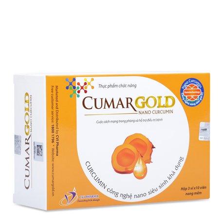 Mẫu hộp thực phẩm chức năng CumarGold