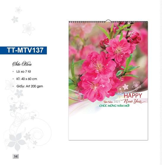 Mẫu lịch treo tường 7 tờ TT-MTV137