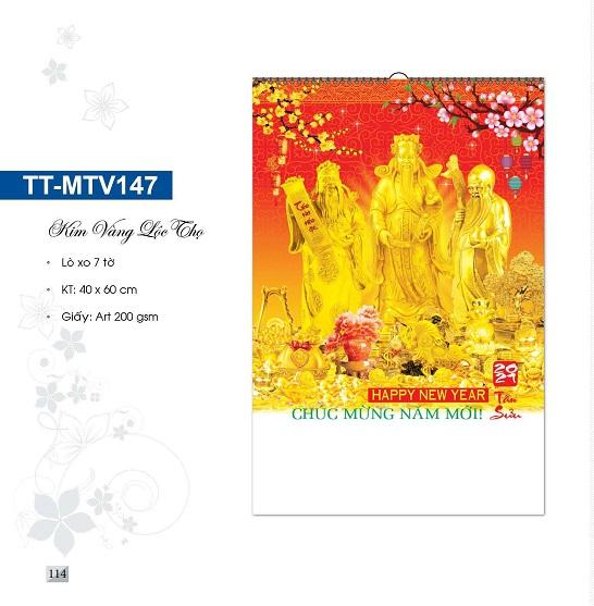 Mẫu lịch treo tường 7 tờ TT-MTV147