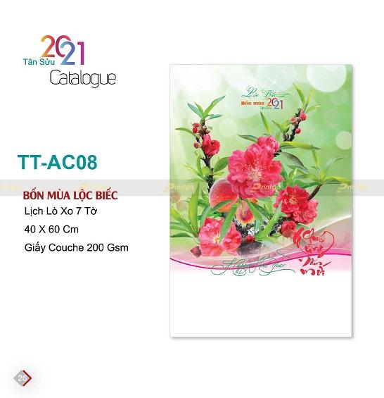 Mẫu lịch treo tường 7 tờ TT-AC08