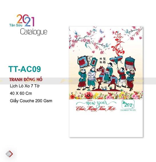 Mẫu lịch treo tường 7 tờ TT-AC09
