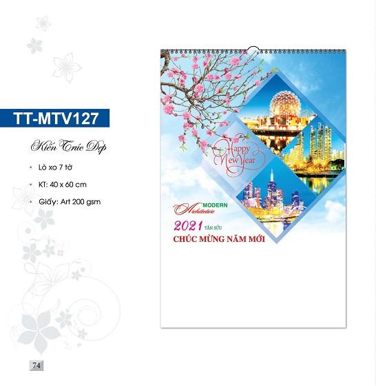 Mẫu lịch treo tường 7 tờ TT-MTV127