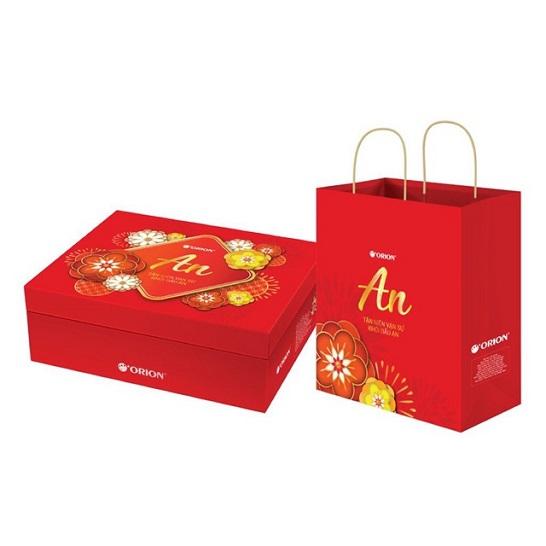 Mẫu túi giấy đựng hộp quà tết TQT-15