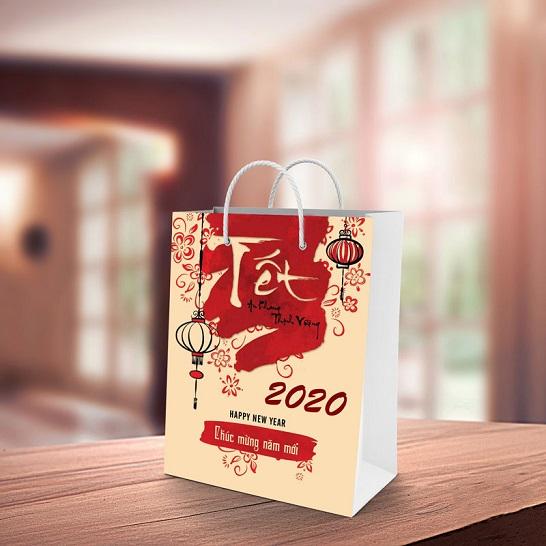 Mẫu túi giấy đựng quà tết TQT-07