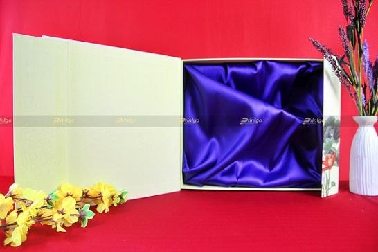 Mẫu hộp quà tết nắp nam châm HQT-NC01