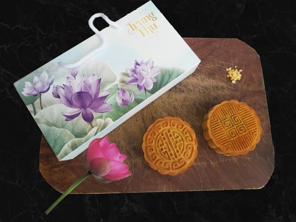 In hộp bánh trung thu giấy Ivory hộp bao diêm 2 bánh