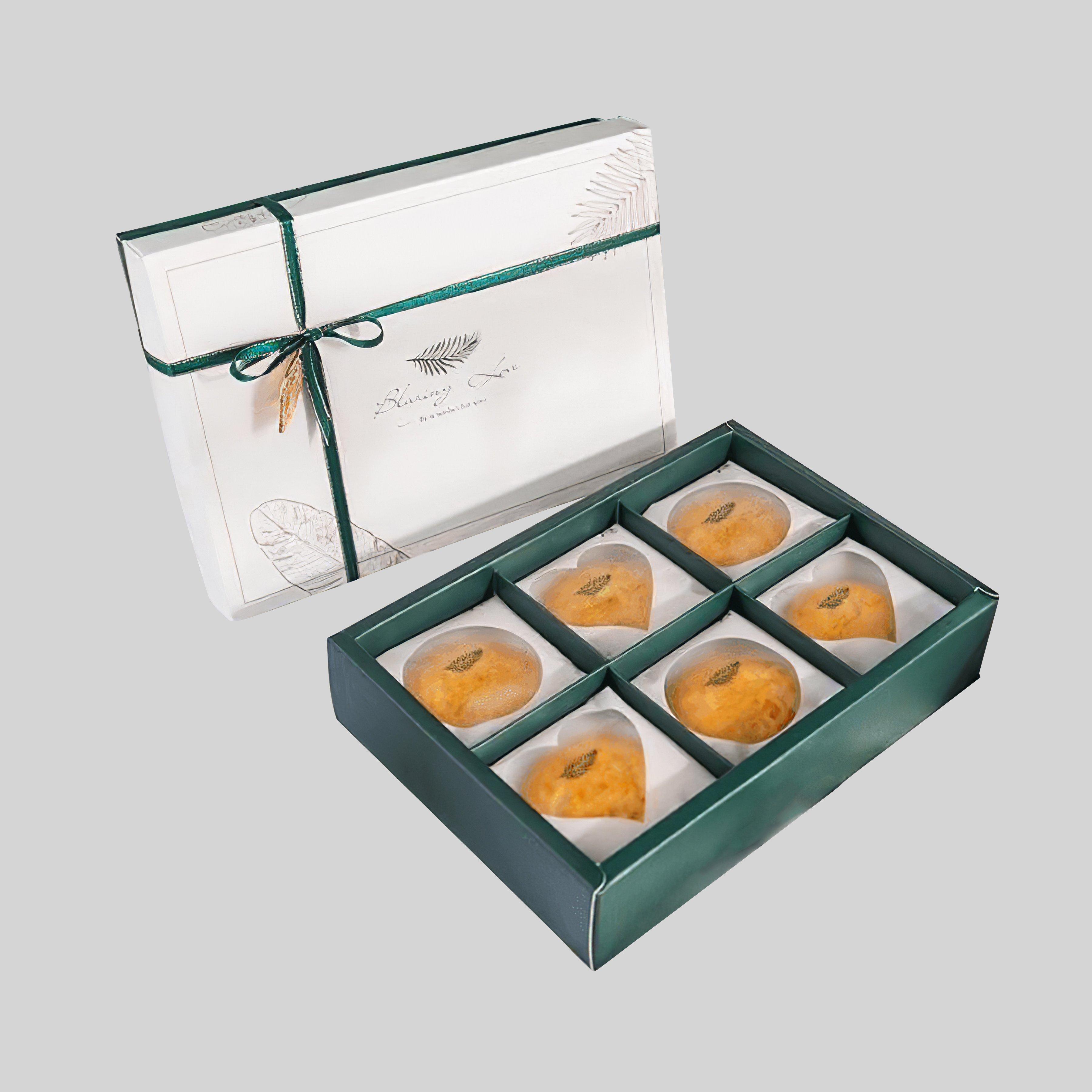 In hộp bánh trung thu giấy Ivory hộp âm dương 6 bánh
