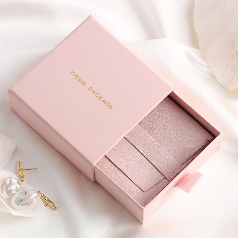 Combo 2 hộp giấy đựng nhẫn hồng