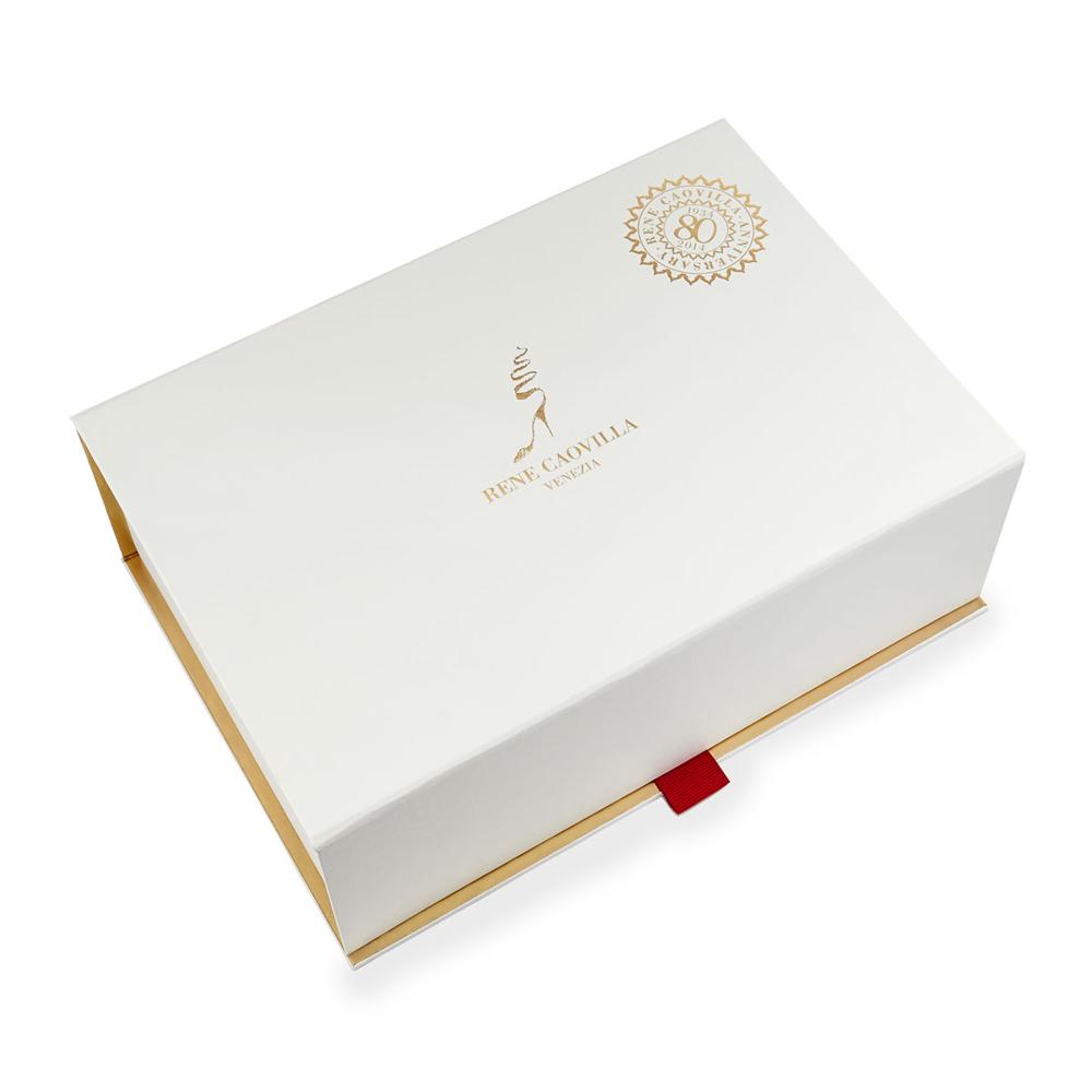 In hộp giấy đựng giày carton lạnh nắp lật màu trắng